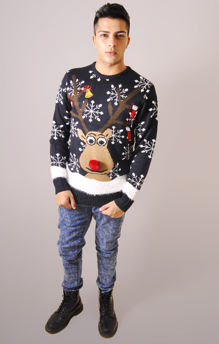 rudolph men The top is a soft poly jersey blended fabric with an image of rudolph with a rudolph the red-nosed reindeer rudolph the red-nosed reindeer men's.